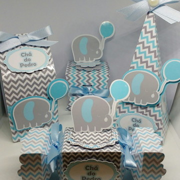 Kit elefantinho - chá de bebê
