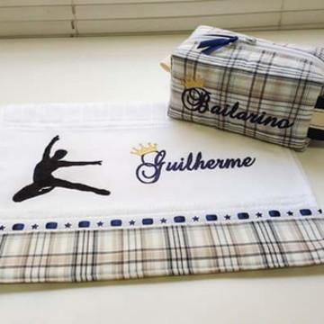 Kit nécessaire e toalha personalizada