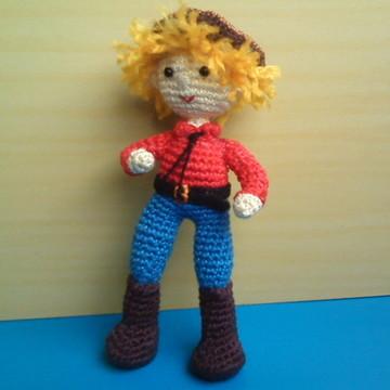 Amigurumi - boneco cowboy em crochê