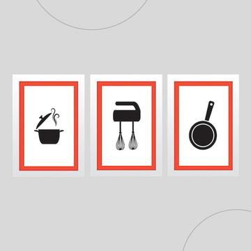 Quadros para cozinha 3 - Promoção e Não Paga Frete!