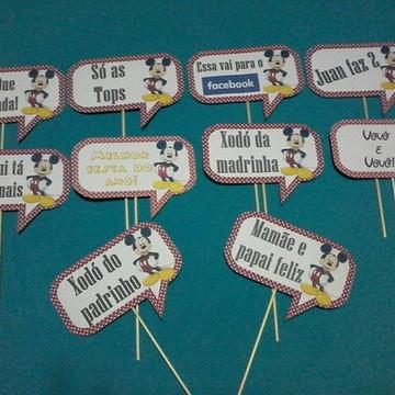 Plaquinhas para fotos - Mickey