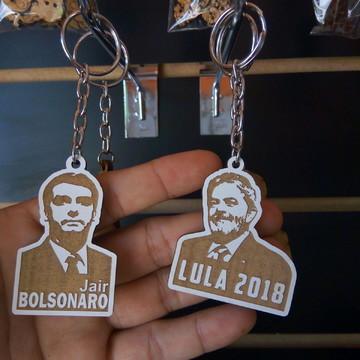 Chaveiro Bolsonaro e Lula