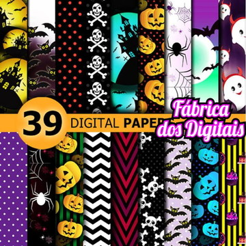 Kit Papel Digital - Halloween / Dia das Bruxas 2
