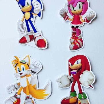 Aplique para tubetes - Sonic