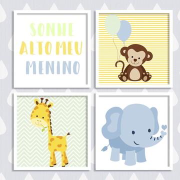Kit decoração para quarto de bebê
