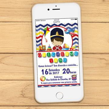 Convite Digital Soldadinho de Chumbo