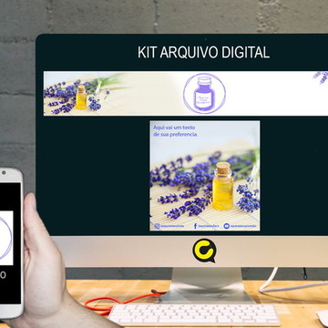 Kit Digital Loja Elo7 Lilas