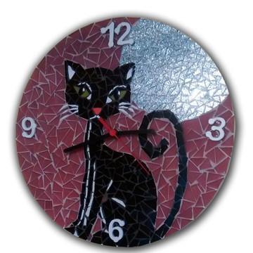 Relógio Gato e a Lua