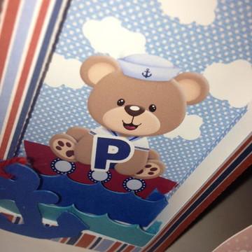Caixa Urso Marinheiro com visor