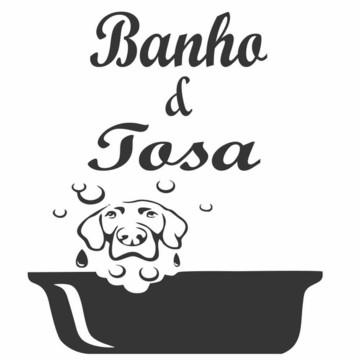 Adesivo banho e tosa pet shop banheira cachorro