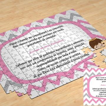 Quebra-Cabeça Personalizado Padrinhos 24 Peças - Aceita ser2