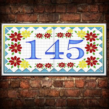 Numero para casa em azulejo