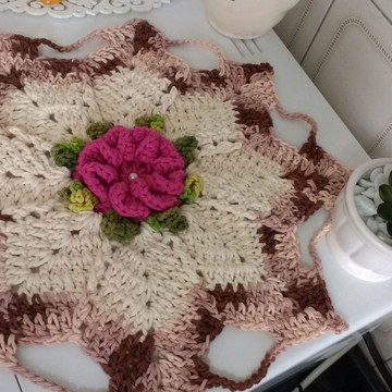 Toalhinha em Crochê barroco