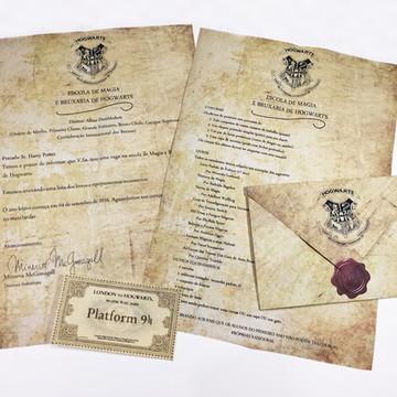 Carta de Hogwarts - Harry Potter