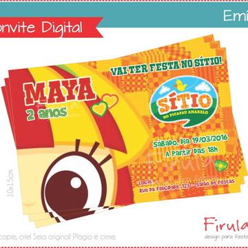 Convite Digital Emília Sítio Pica Pau Amarelo