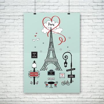 Poster - Paris! (sem moldura)
