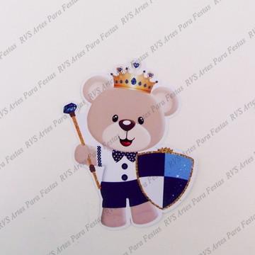 Apliques com 6 cm - Urso Realeza