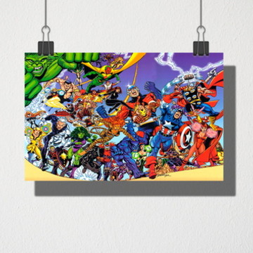 Poster A3 Marvel