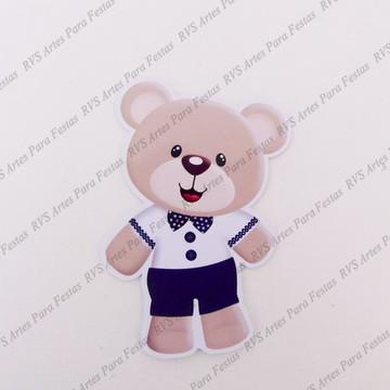 Aplique com 12 cm - Urso Realeza