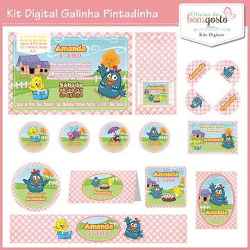 Kit Festa Digital Galinha Pintadinha Rosa