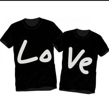 kit 2 Camisetas Romantica Love