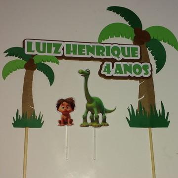 Topo de Bolo O Bom Dinossauro