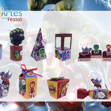 Kit: 60 Lembrancinhas Personalizadas Vingadores