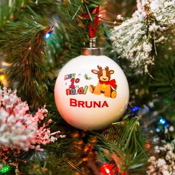 Bola de Cerâmica Personalizada 1º Natal