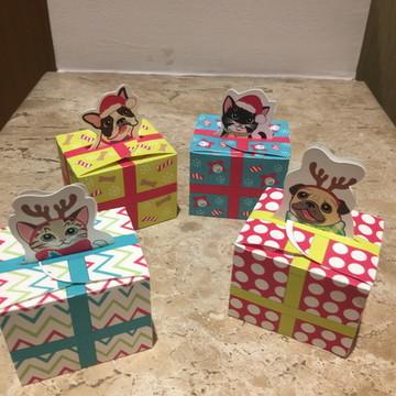 Caixinhas para presentes de Natal