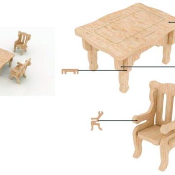 Moveis - Mesa de Cozinha - Boneca