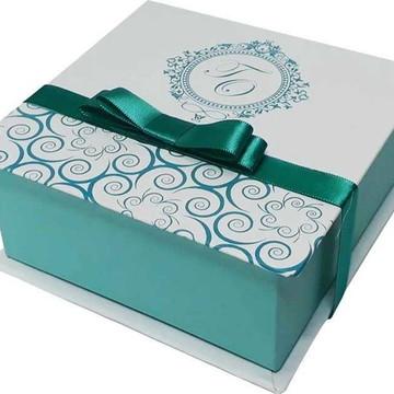 Caixa Convite 14x14x6 Personalizada Casamento Padrinhos Madr