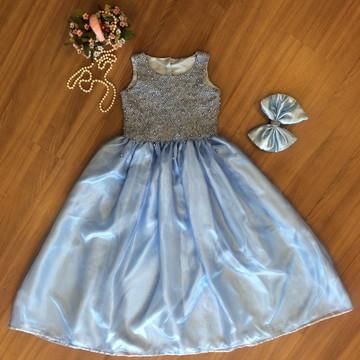 Vestido Bordado para Daminhas - Infantil
