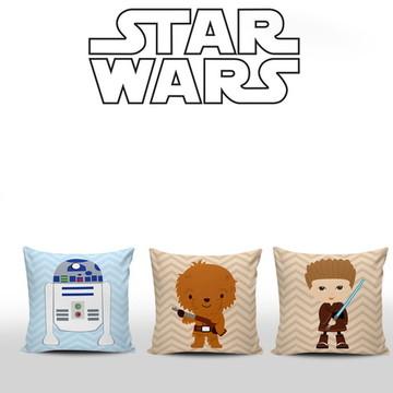 Kit 3 Almofadas Decorativas Star Wars