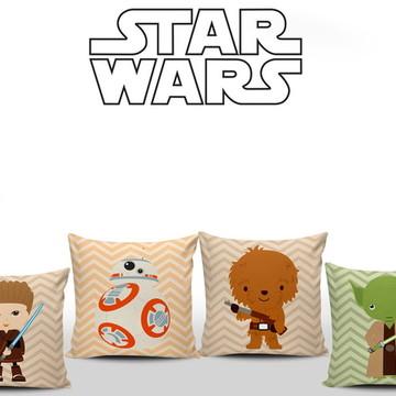 Decoração Star Wars Baby 4 Almofadas