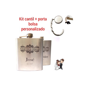 Cantil + Porta Bolsa Personalizado