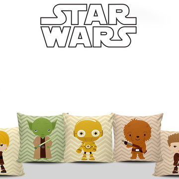 Star Wars 5 Almofadas Infantis Decoração