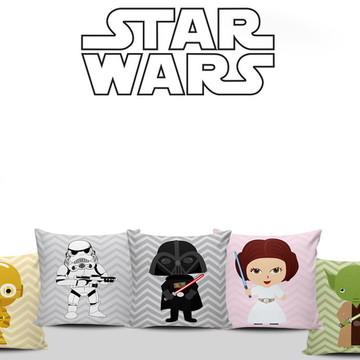 Almofadas Baby Star Wars Decoração 5unid