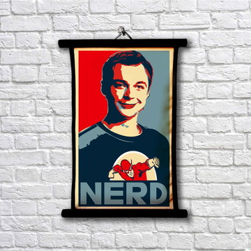 1Pergaminho Nerd - Sheldon