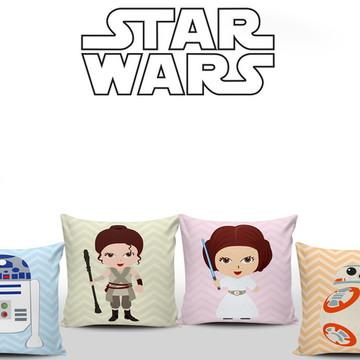 Star Wars Baby 4 Almofadas Quarto Menina