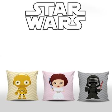 Almofadas Infantis Star Wars 3 unidades
