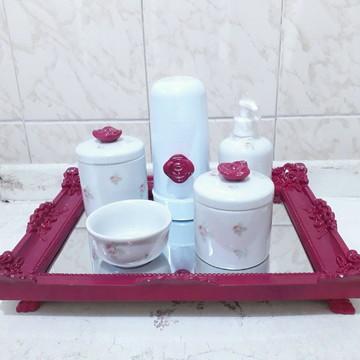 Kit higiene em porcelana pink