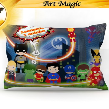 Almofada Super Herois Cute - 30x20cm