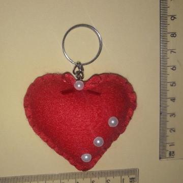 Chaveiro de Feltro - Coração