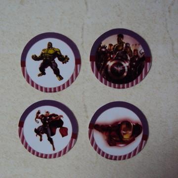 Rotulo Redondo Vingadores 0970