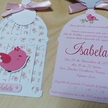 Convite Gaiola Passarinho