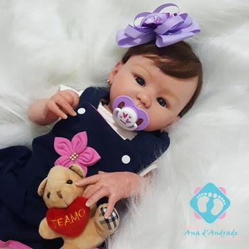 Bebe Reborn Melissa Inteira em vinil siliconado Muito barata
