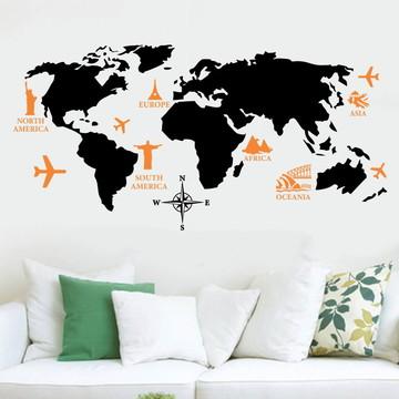 Adesivo mapa pontos turísticos