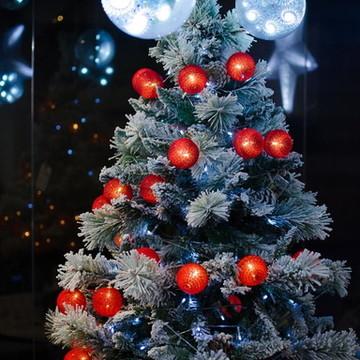 Cordão de luz Natal Vermelho Noel luminária 20 leds