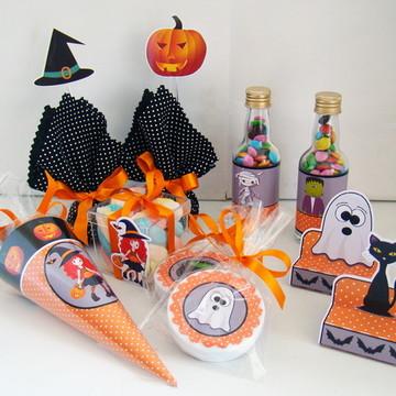 """Kit Festa """"Halloween"""" 60 produtos"""
