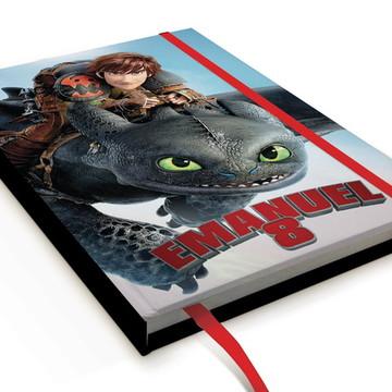 Caderno Como Treinar seu Dragão A5 Personalizado